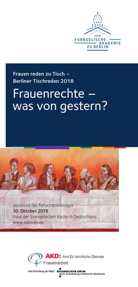 Frauen reden zu Tisch – Berliner Tischreden 2018 am Vorabend des Reformationstages