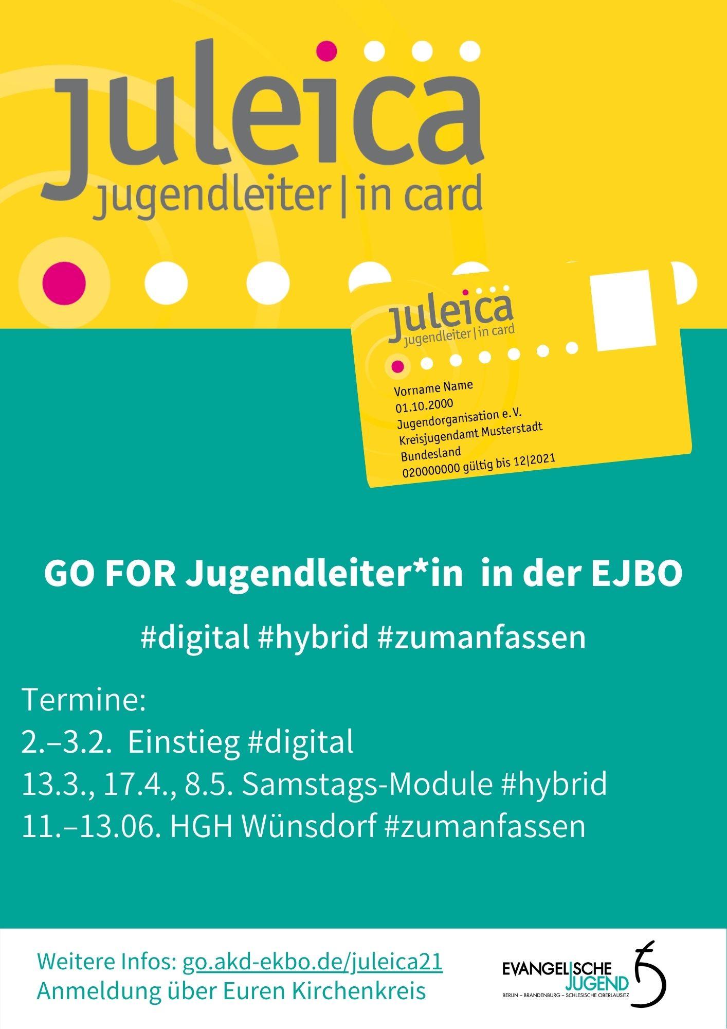 Digitale-hybride Juleica-Ausbildung, Februar bis Juni 2021
