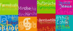 Grafik-Elemente Cover: Studienmaterial Fernstudium Theologie geschlechterbewusst, Layout der Grafik-Elemente: Designagentur elemente GbR