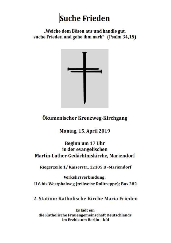 Ökumenischer Kreuzweg-Kirchgang