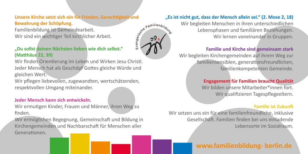 Leitsätze der Evangelischen Familienbildung Berlin